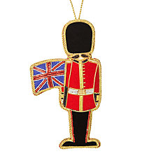 Buy Tinker Tailor Tourism Soldier With Flag Tree Decoration Online at johnlewis.com