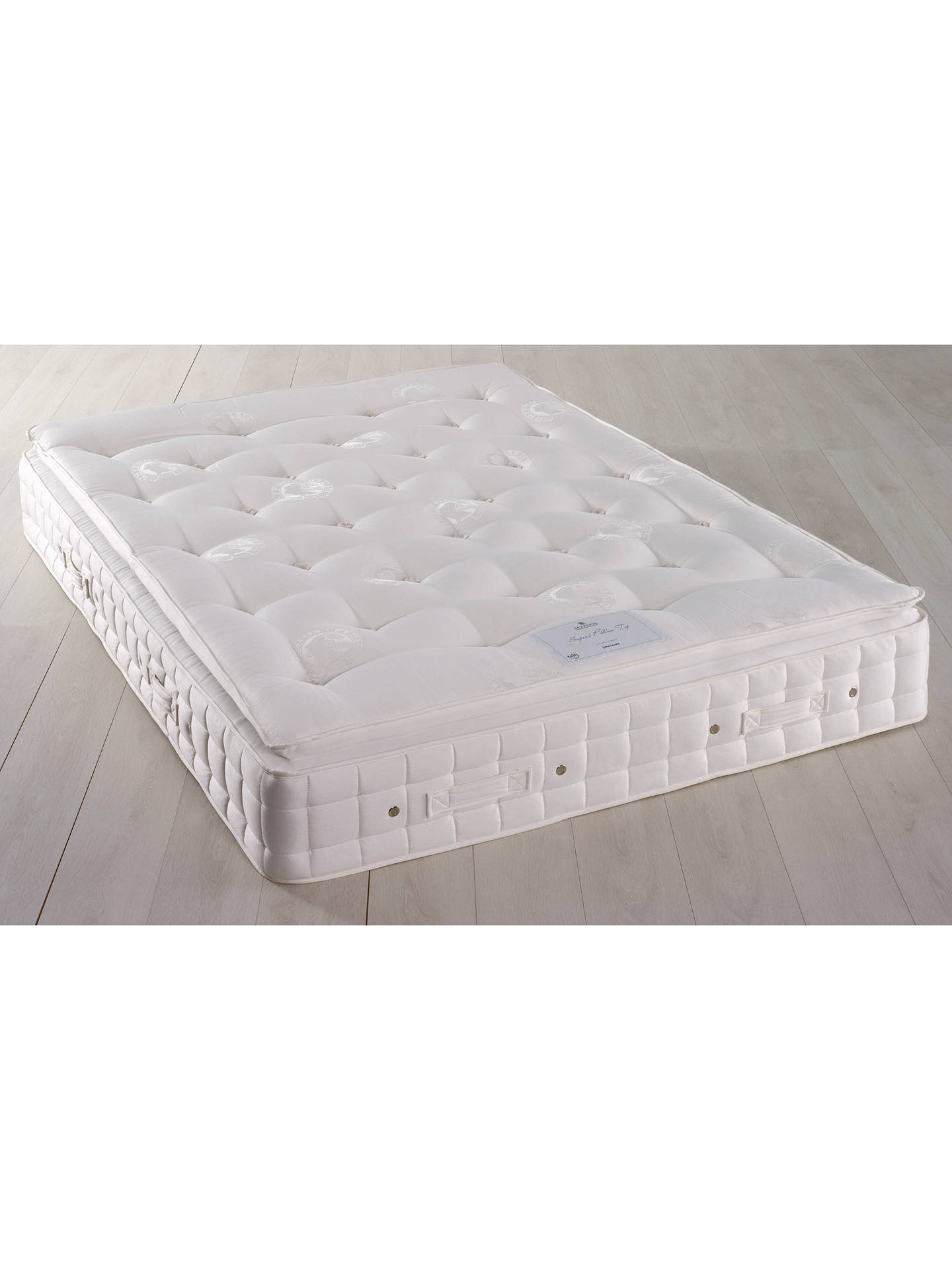 hypnos superb pillow top pocket spring mattress firm double at john lewis partners. Black Bedroom Furniture Sets. Home Design Ideas