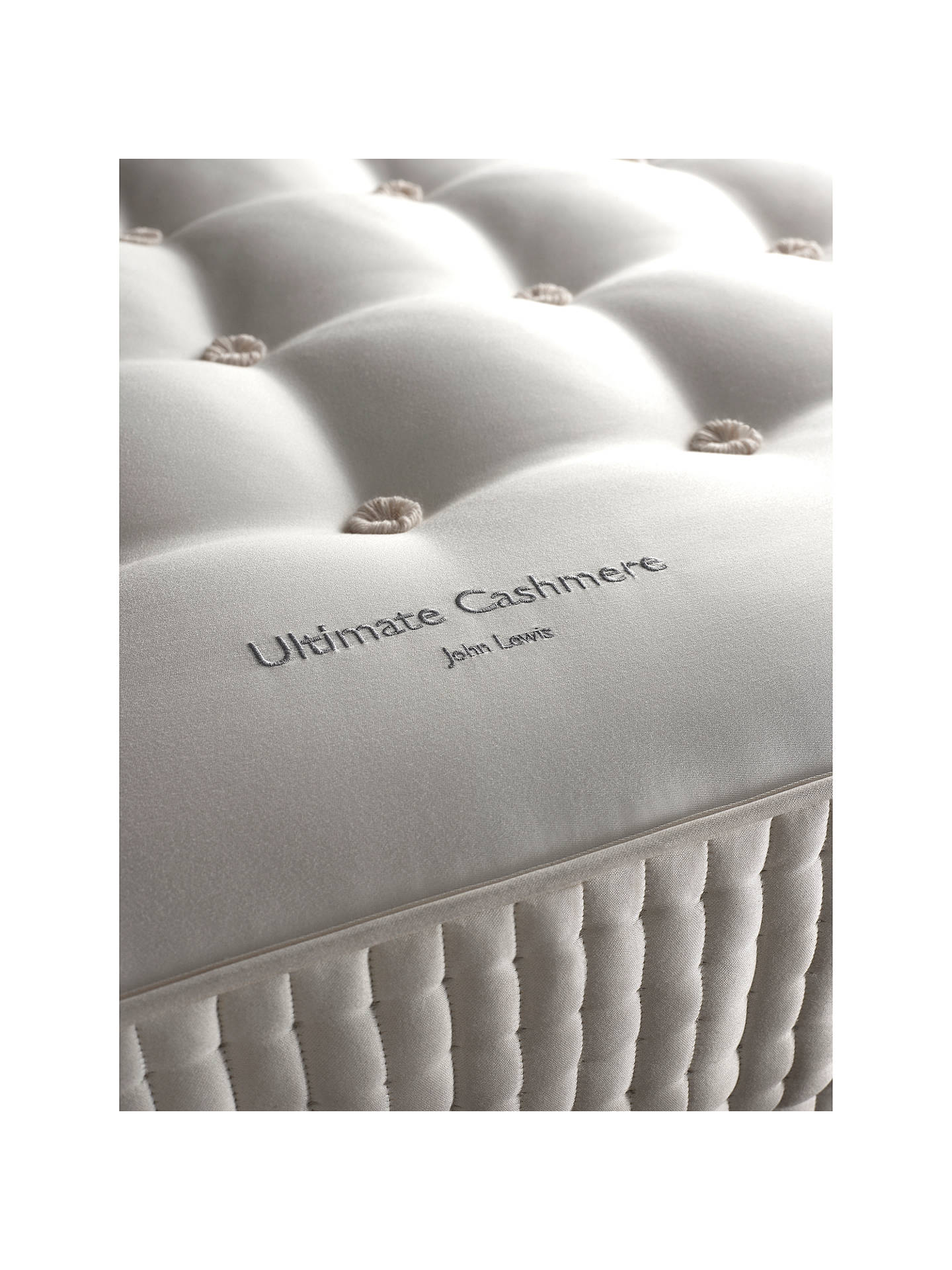BuyJohn Lewis & Partners The Ultimate Collection Cashmere Pocket Spring Mattress, Medium, King Size Online at johnlewis.com