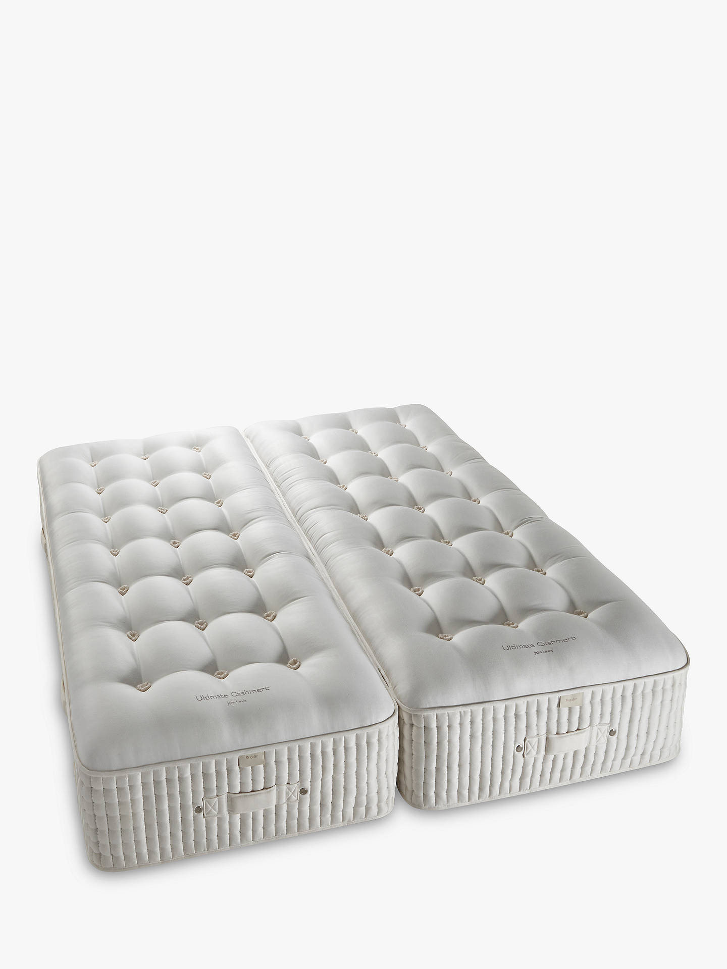 Buy John Lewis & Partners The Ultimate Collection Cashmere Pocket Spring Zip Link Mattress, Medium, King Size Online at johnlewis.com