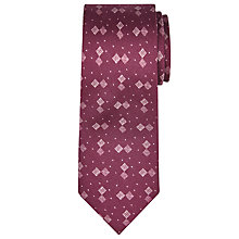 Buy JOHN LEWIS & Co. Grid Print Silk Tie Online at johnlewis.com