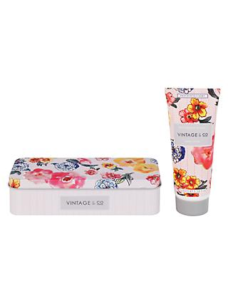 Heathcote & Ivory Vintage Patterns & Petals Hand Cream In Tin, 100ml