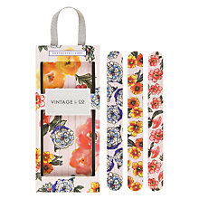 Buy Heathcote & Ivory Vintage Patterns & Petals Emery Board Set Online at johnlewis.com