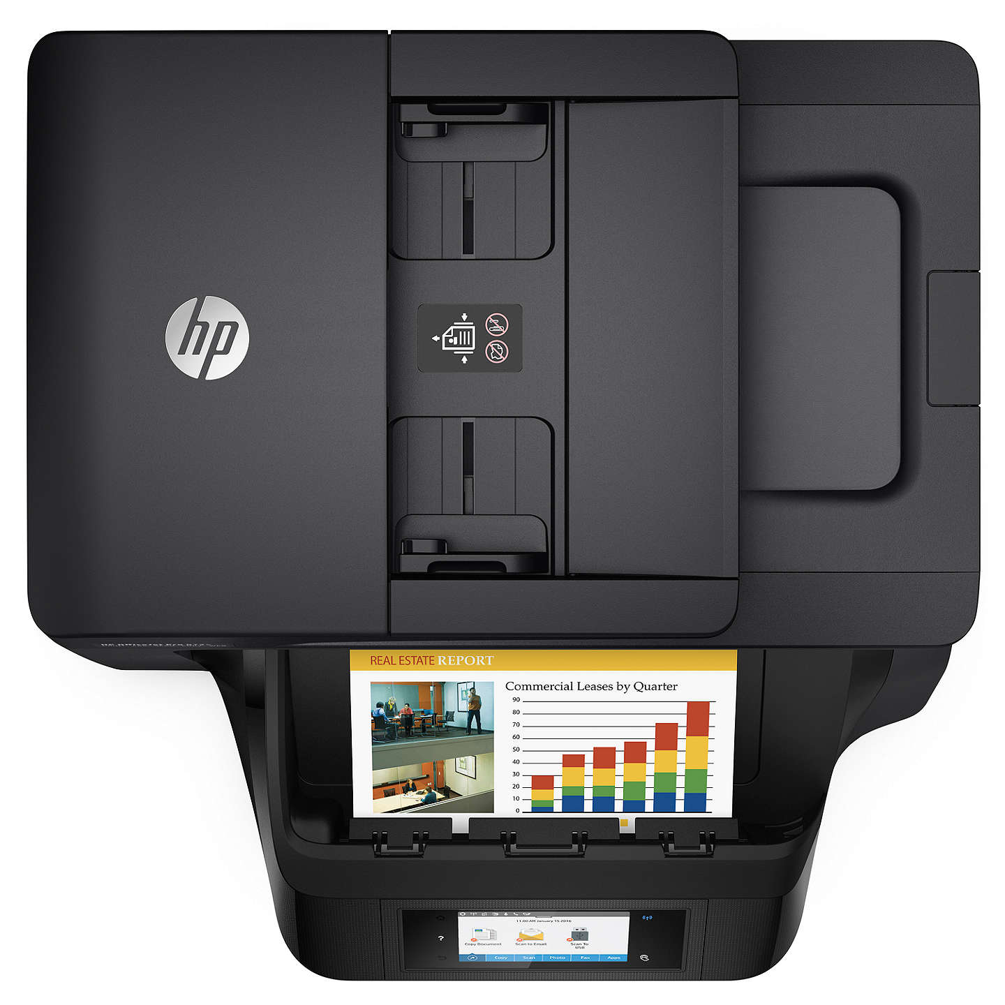 BuyHP Officejet Pro 8725 All-in-One Wireless NFC Printer & Fax Machine with Touch Screen, HP Instant Ink Compatible with 3 Months Trial Online at johnlewis.com