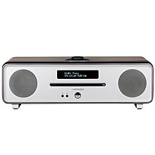 Buy Ruark R4-30 30th Anniversary DAB/DAB+/FM Radio & CD Bluetooth All-In-One Music System with OLED Display, Wooden Case & Titanium Finish Online at johnlewis.com