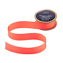 Buy John Lewis Grosgrain Ribbon, 5m, Blaze Bright Coral Online at johnlewis.com