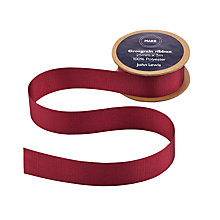 Buy John Lewis Grosgrain Ribbon, 5m, Claret Online at johnlewis.com