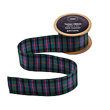Buy John Lewis Flower of Scotland Tartan Ribbon, 5m, Green/Blue Online at johnlewis.com