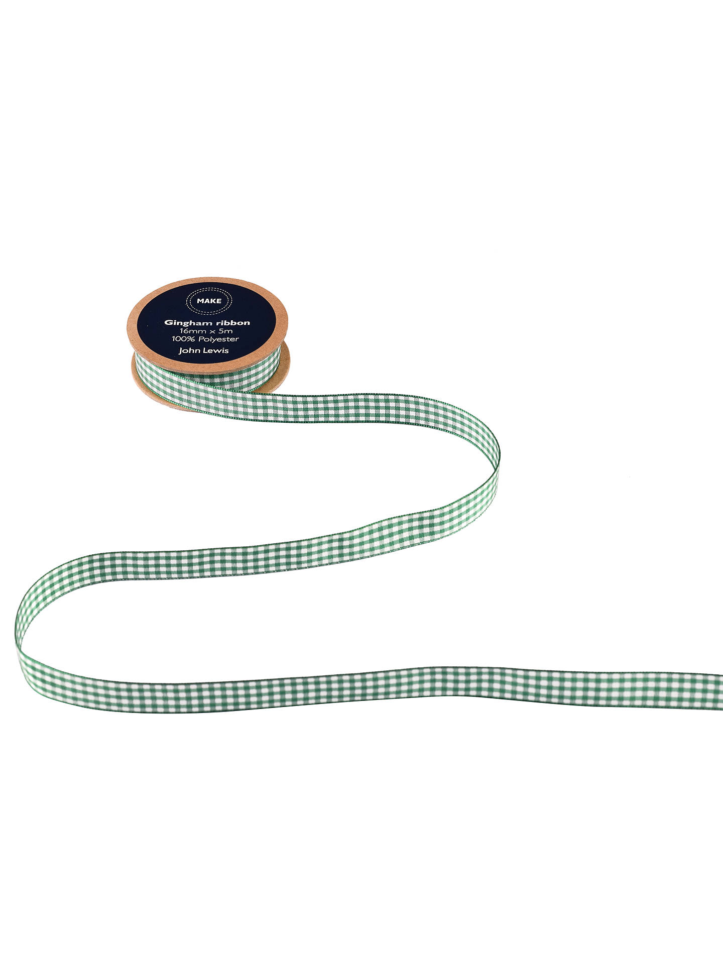 BuyJohn Lewis & Partners Gingham Ribbon, 5m x 16mm Online at johnlewis.com