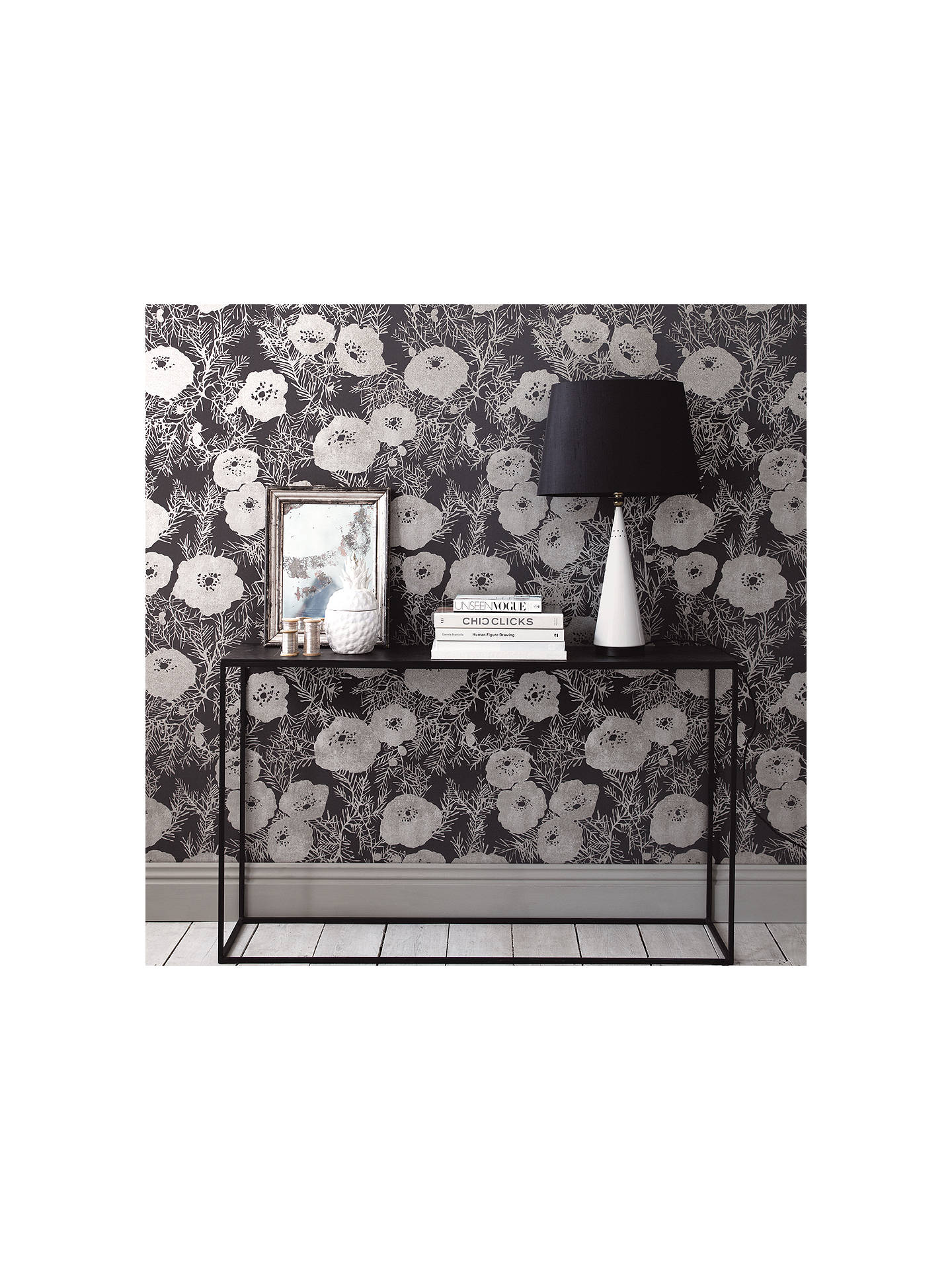 Buy Romo Lomasi Paste the Wall Wallpaper, Charcoal W402/05 Online at johnlewis.com