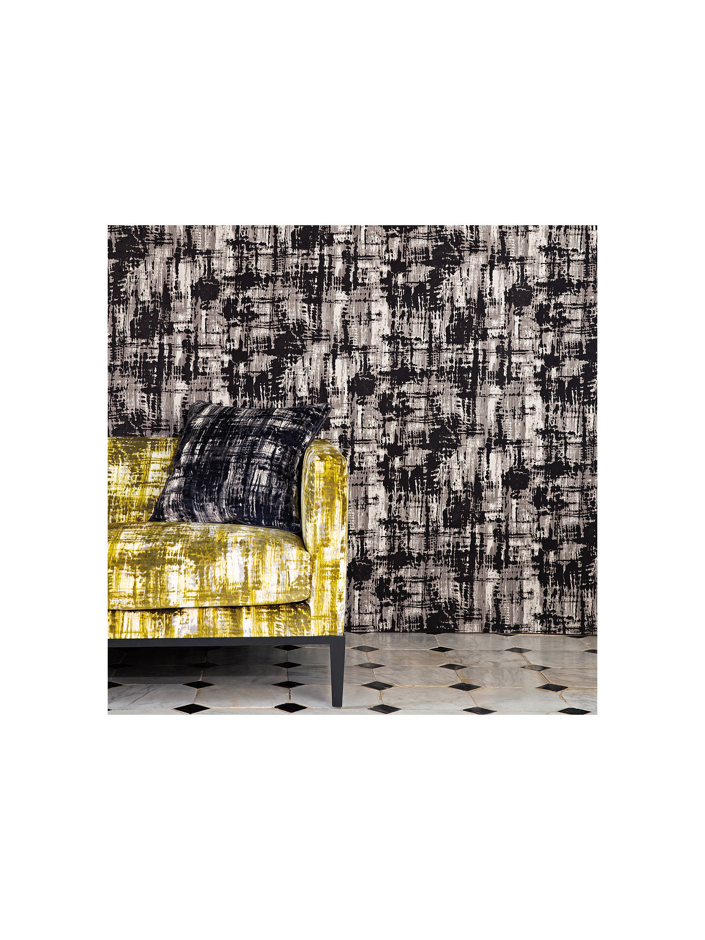 BuyBlack Edition Jackson Flock Paste the Wall Wallpaper, W371/02 Online at johnlewis.com