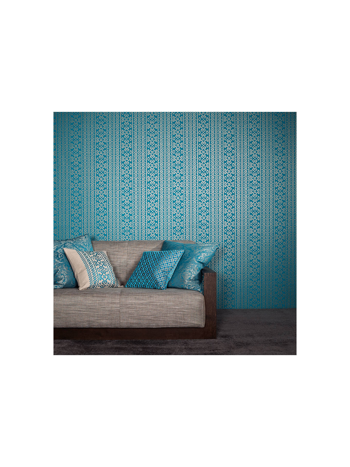 Buy Black Edition Kasbah Paste the Wall Wallpaper, Blue W366/04 Online at johnlewis.com