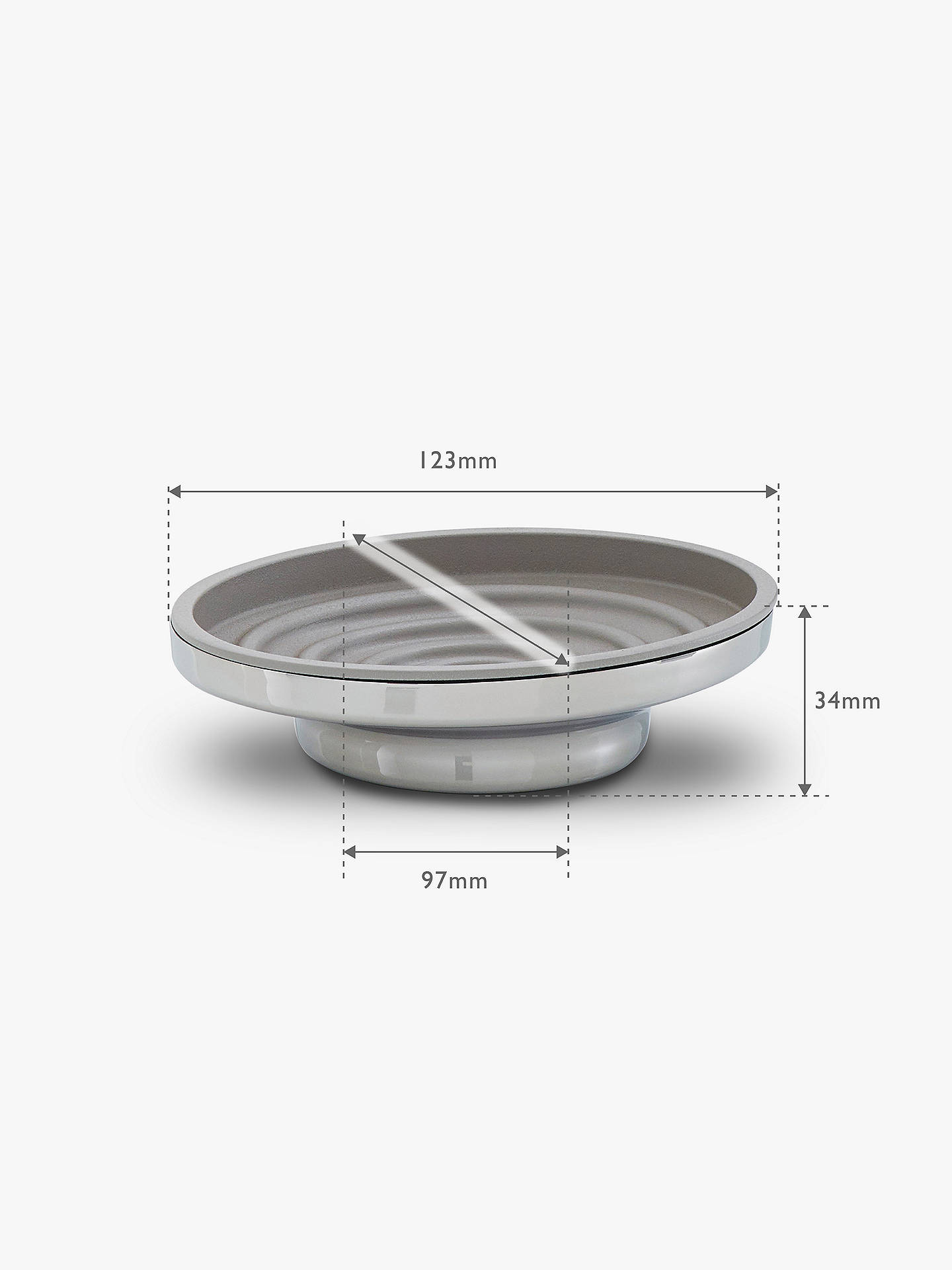 Buy Robert Welch Oblique Soap Dish Online at johnlewis.com