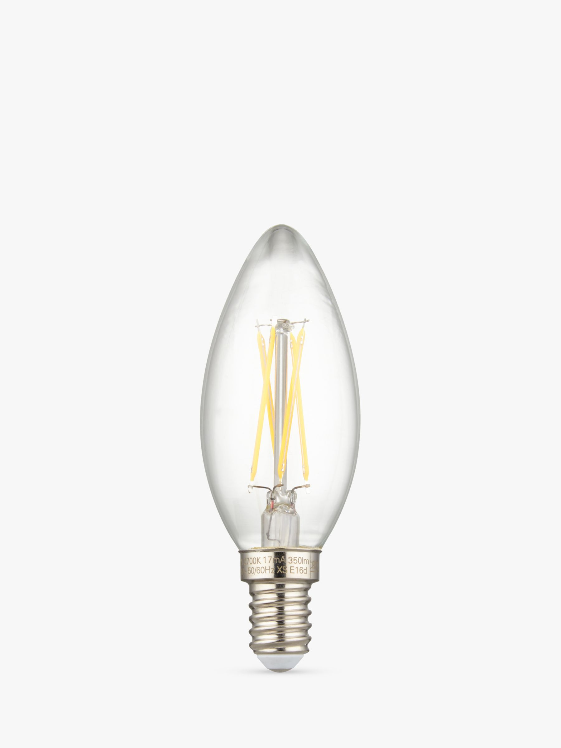 Calex Calex 3.5W SES LED Dimmble Filament Candle Bulb, Clear