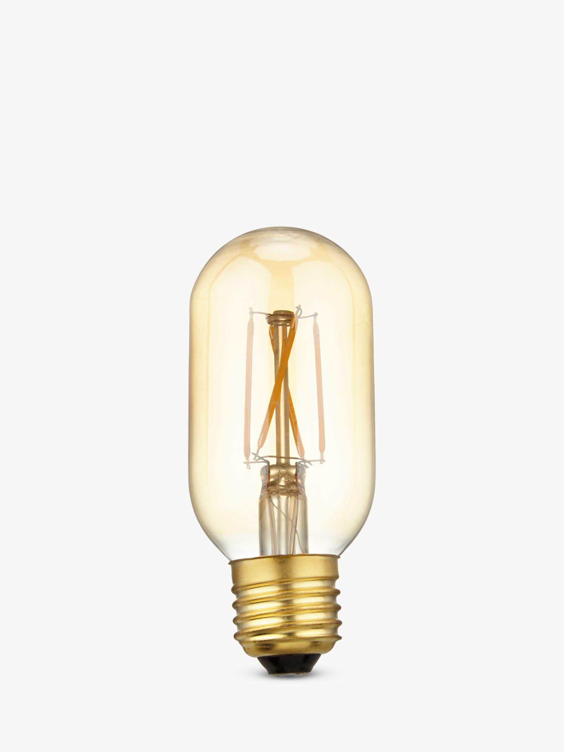 Calex Calex 4W Dimmable Tube LED T45L Filament Bulb, Gold