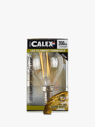 Buy Calex 3.5W SES LED Filament Golf Ball Bulb, Clear Online at johnlewis.com