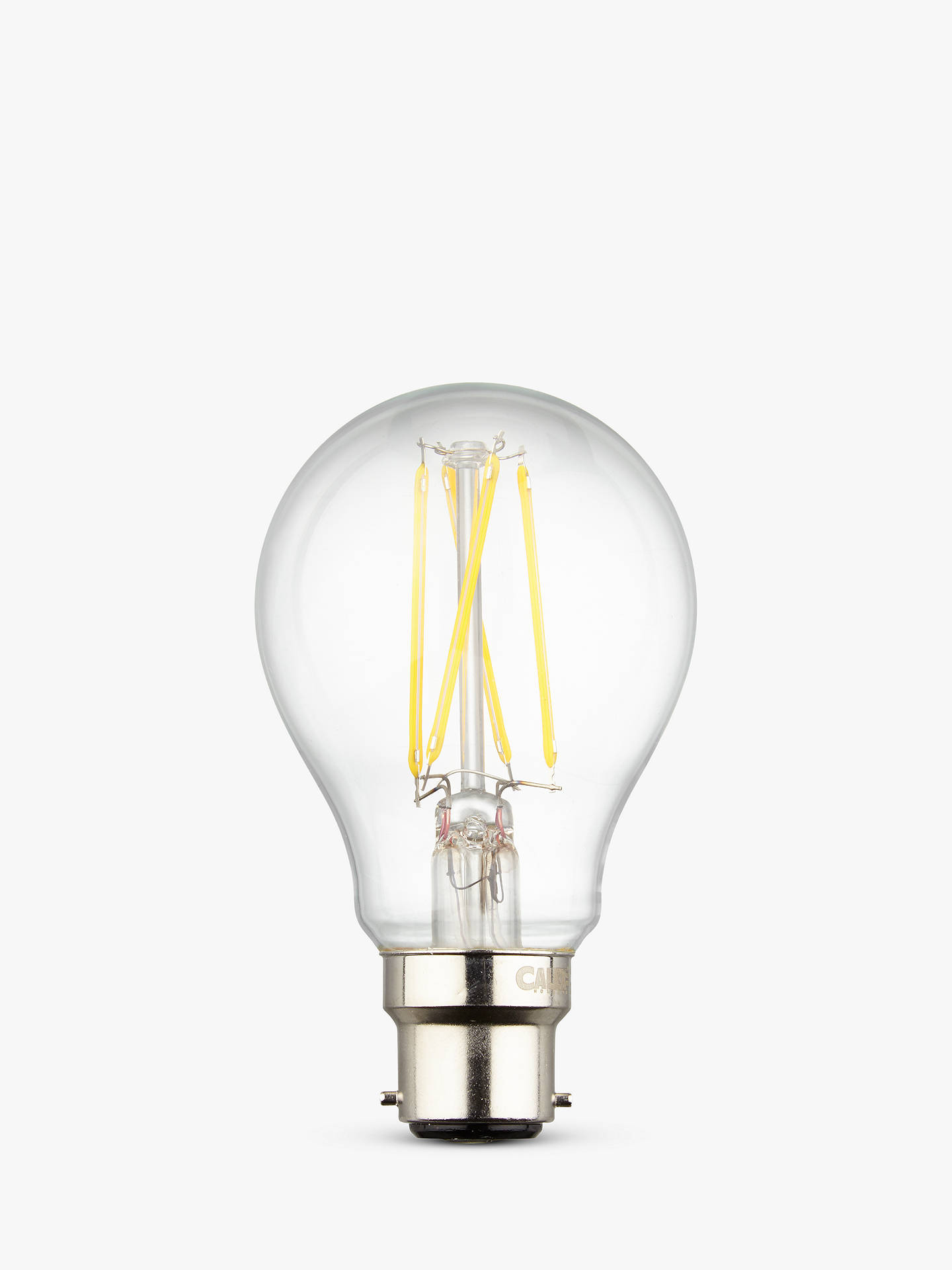Buy Calex 7W BC LED Filament Classic Bulb, Clear Online at johnlewis.com