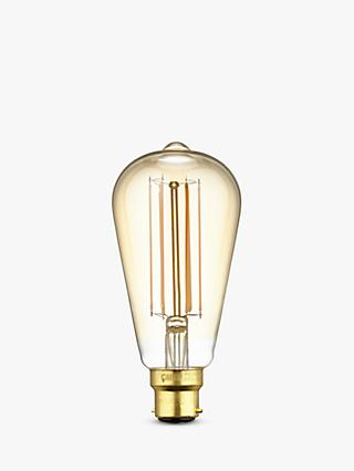 Calex 4W BC LED Filament ST64 Dimmable Bulb, Gold