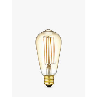 Calex 4W ES LED ST64 Dimmable Rustic Filament Bulb Gold