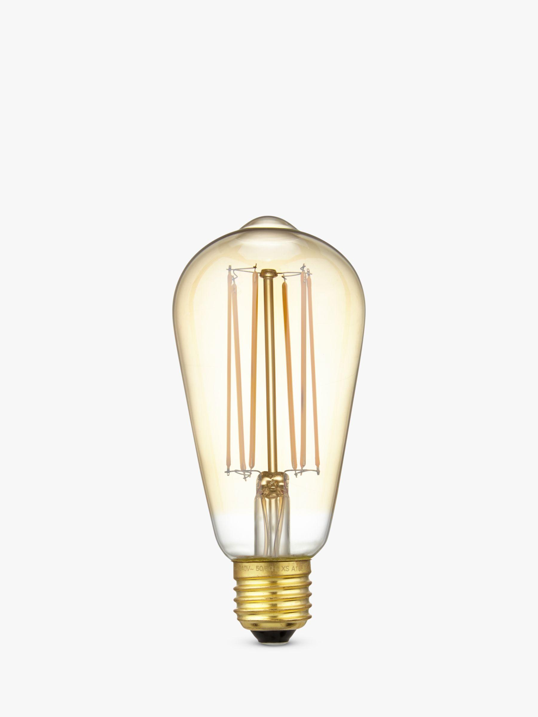 Calex Calex 4W ES LED ST64 Dimmable Rustic Filament Bulb, Gold