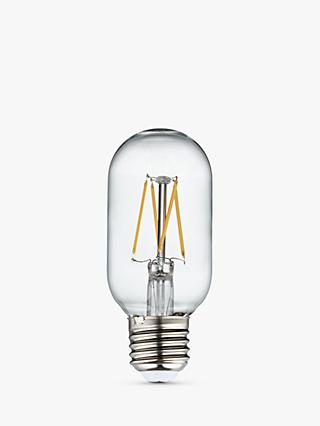Calex 4W Tube LED Dimmable T45L Filament Bulb, Clear