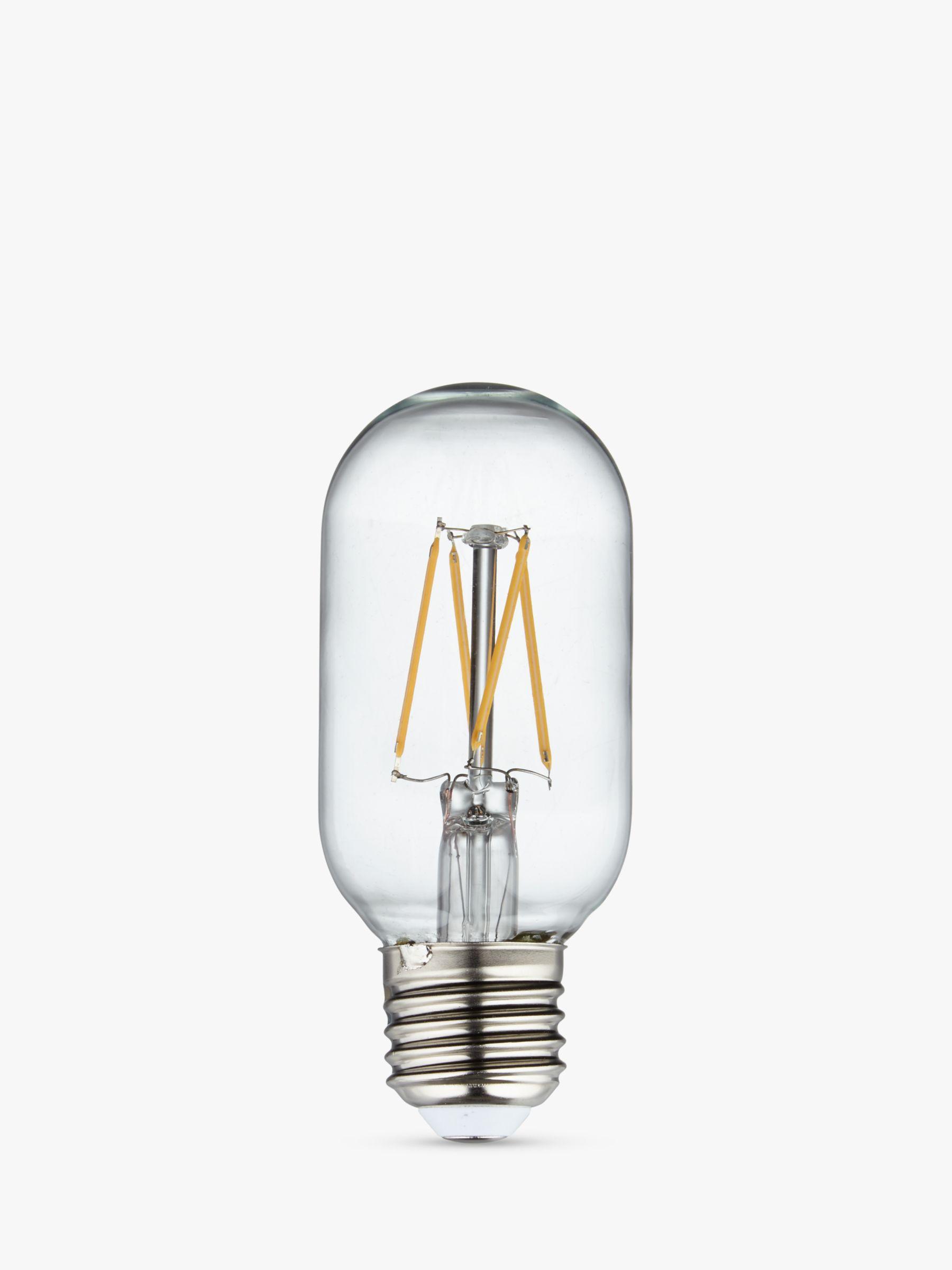 Calex Calex 4W Tube LED Dimmable T45L Filament Bulb, Clear