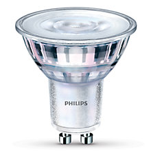 Buy Philips 4.5W GU10 LED Dimmable Warm Glow Spotlight Bulb Online at johnlewis.com