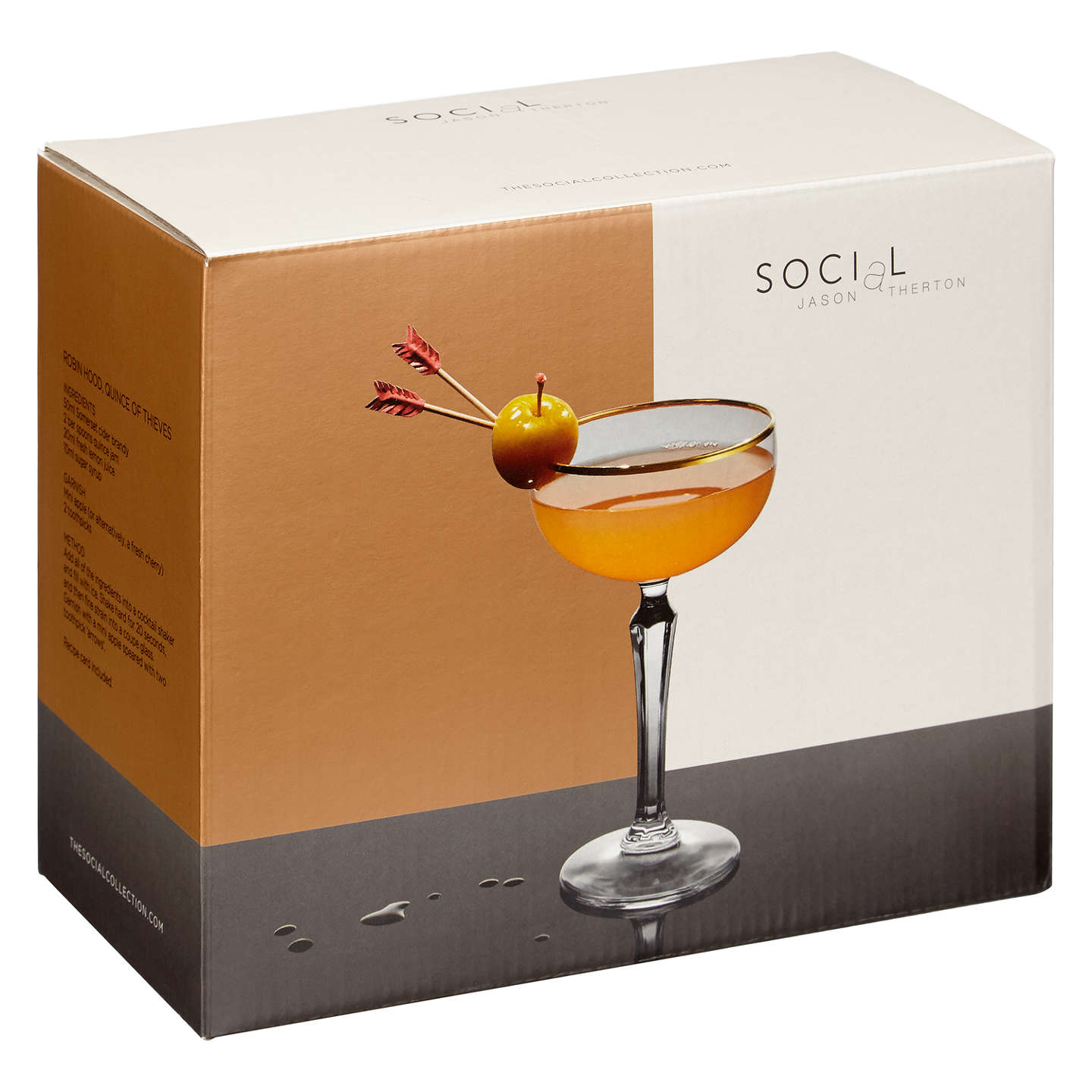 BuySocial by Jason Atherton Gold Band Coupe, Set of 2 Online at johnlewis.com