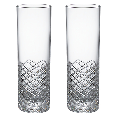 Product photo of Social by jason atherton hand cut crystal glass highball glasses set of 2