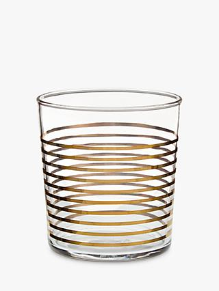 John Lewis & Partners Striped 36cl Tumbler, Gold