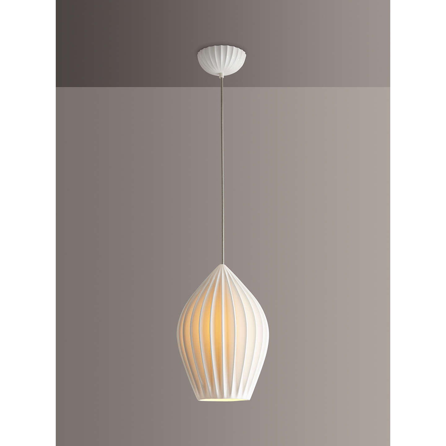 Original BTC Finn XL Pendant Ceiling Light, White At John