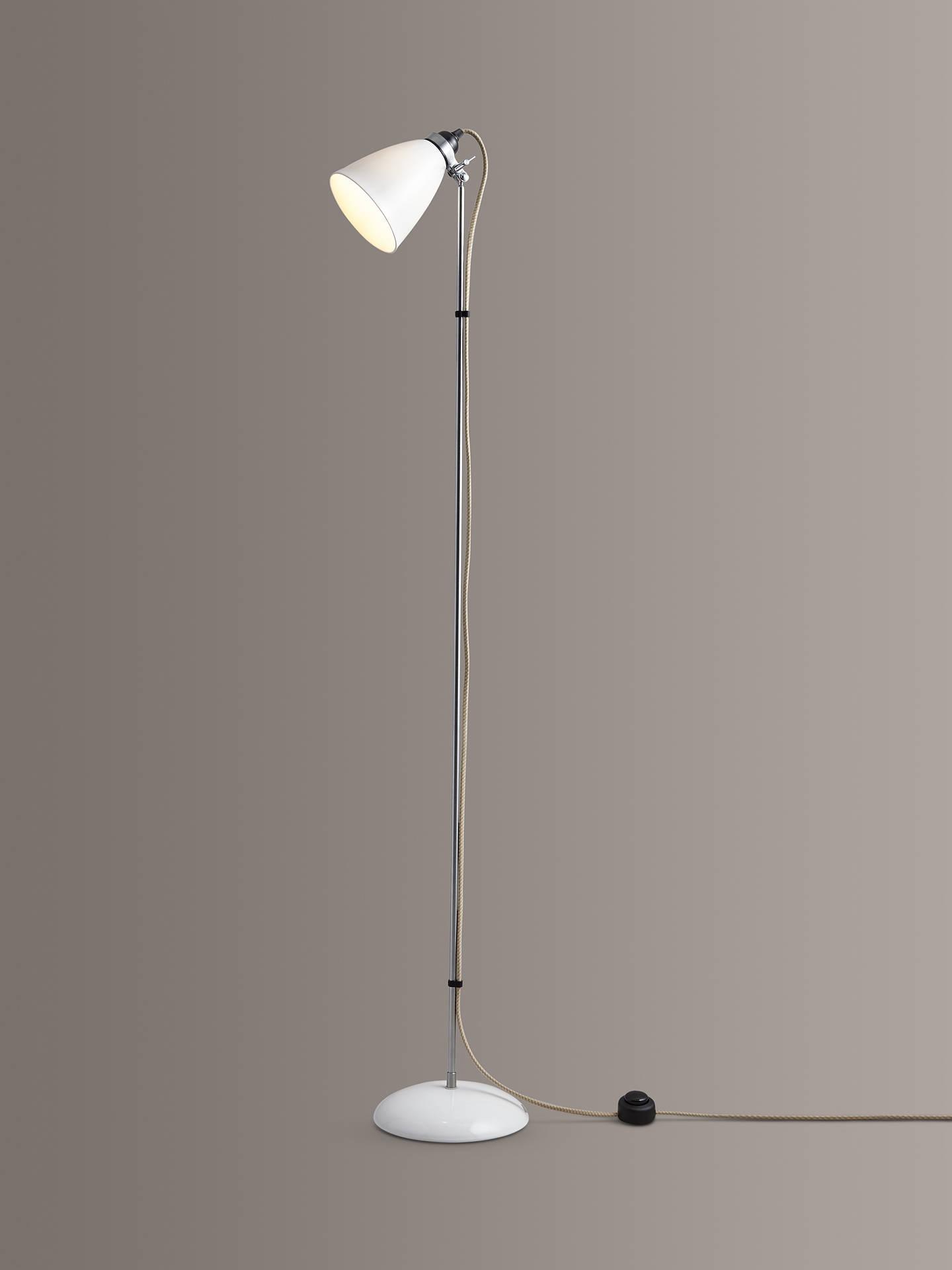 Original Btc Hector Medium Dome Floor Lamp White Online At Johnlewis
