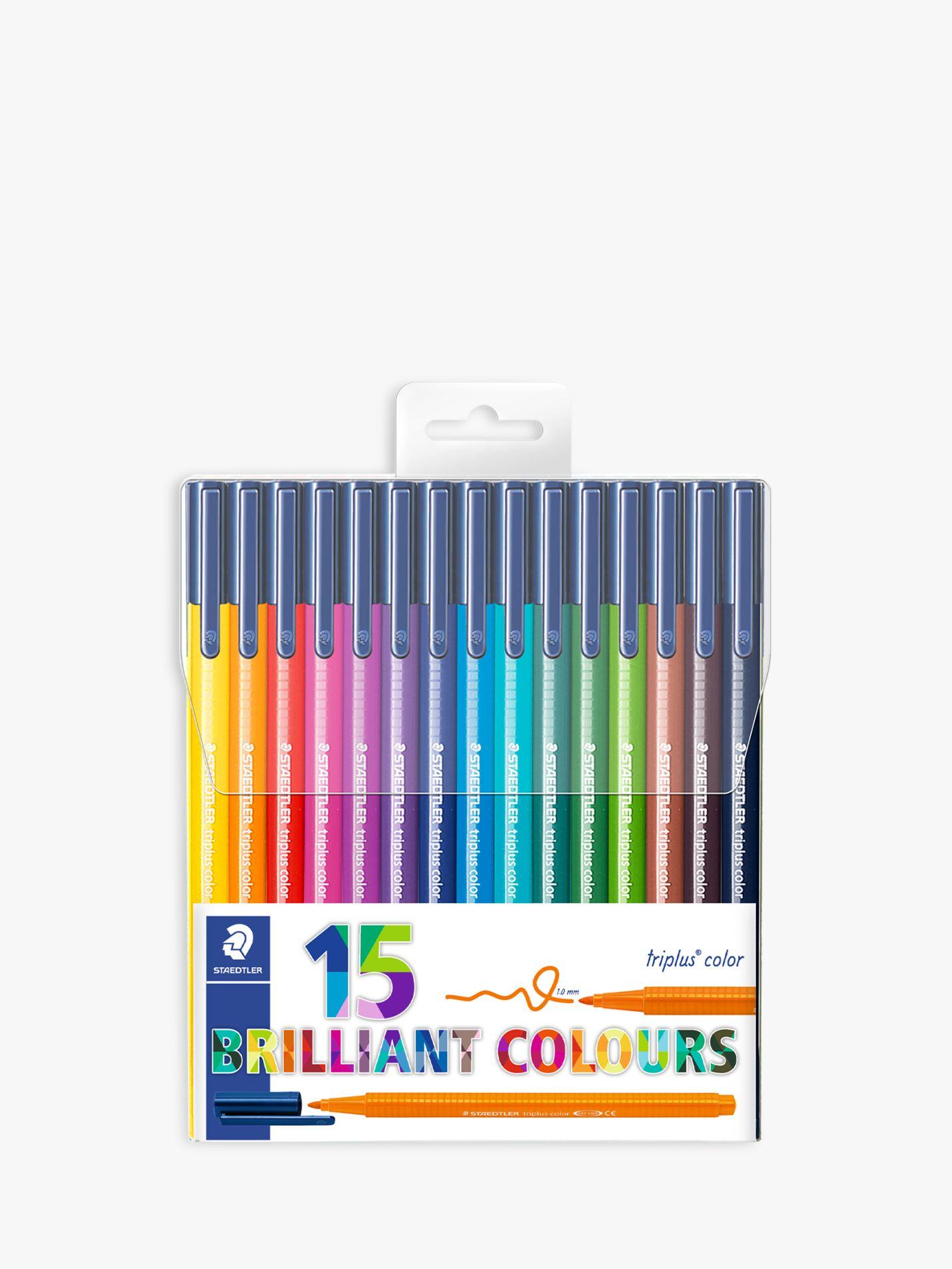 Staedtler STAEDTLER Triplus Colour Fibre Tip Pens, Pack of 15