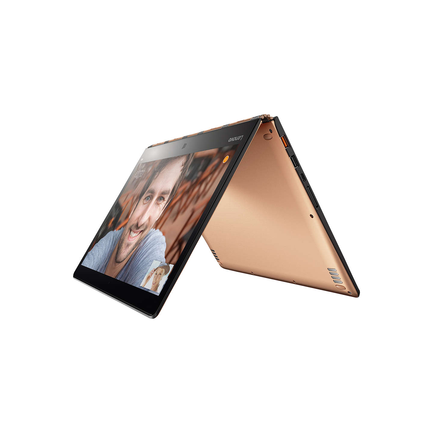 "BuyLenovo YOGA 900 Convertible Laptop, Intel Core i7, 8GB RAM, 256GB SSD, 13"" QHD+ Touch Screen, Champagne Online at johnlewis.com"