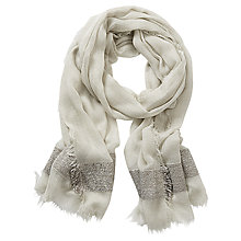 Buy Betty & Co. Long Fringed Scarf, Spray Green Online at johnlewis.com