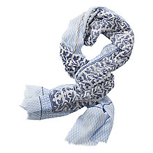 Buy Betty Barclay Long Printed Scarf, Dark Blue/White Online at johnlewis.com