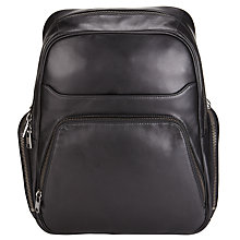 Buy John Lewis Tokyo Leather Backpack, Black Online at johnlewis.com