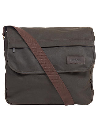 Buy Barbour Wax Cotton City Messenger, Olive Online at johnlewis.com