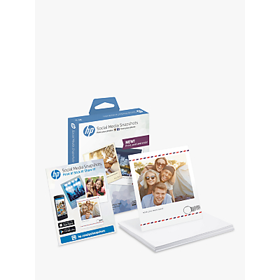 Product photo of Hp social media snapshot sticky photo paper 25 sheets