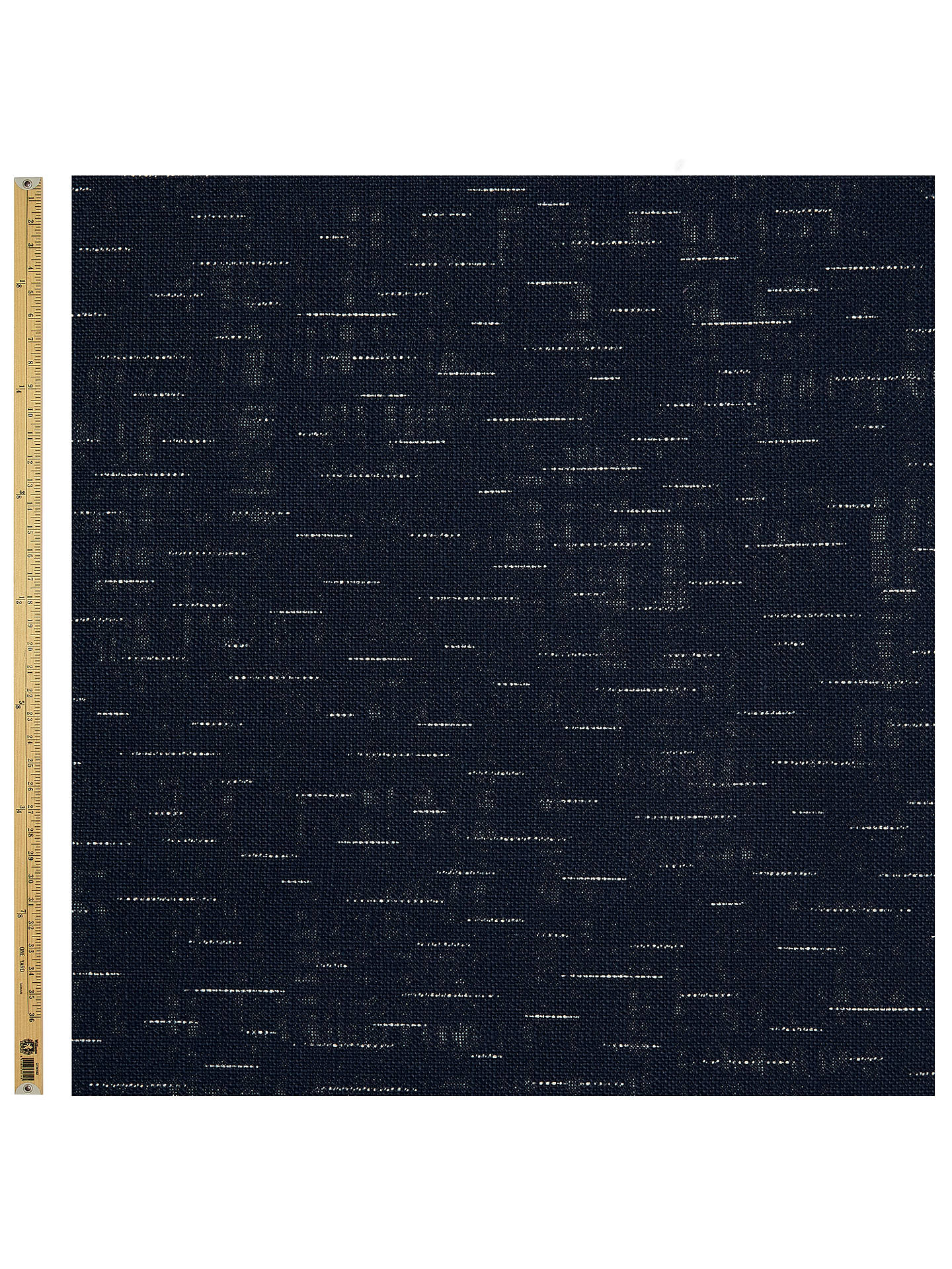 Buy Sevenberry Faint Line Print Fabric, Blue Online at johnlewis.com