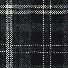 Buy Calzeat Large Tartan Print Fabric, Grey/Cream Online at johnlewis.com