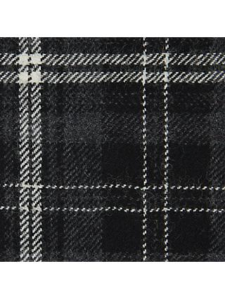Calzeat Large Tartan Print Fabric, Grey/Cream