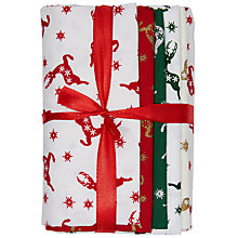 Buy John Lewis Christmas Fat Quarter Fabrics, Pack of 5, Multi Online at johnlewis.com