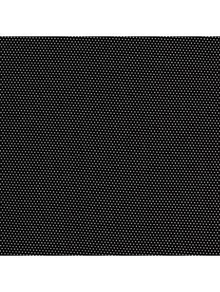 Pin Spot Jersey Fabric, Black