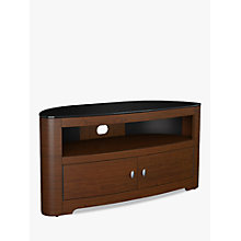 "Buy AVF Affinity Plus Blenheim 1100 TV Oak Veneer Stand For TVs Up To 55"", Walnut Online at johnlewis.com"
