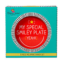 Buy Happy Jackson Smiley Melamine Dinner Set, Set of 3 Online at johnlewis.com
