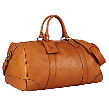 Buy Polo Ralph Lauren Barrel Duffel Bag, Cognac Online at johnlewis.com