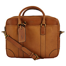 Buy Polo Ralph Lauren Leather Commuter Bag, Cognac Online at johnlewis.com