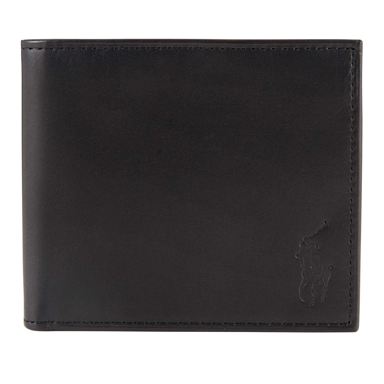 BuyPolo Ralph Lauren Leather Billfold Wallet, Black Online at johnlewis.com  ...