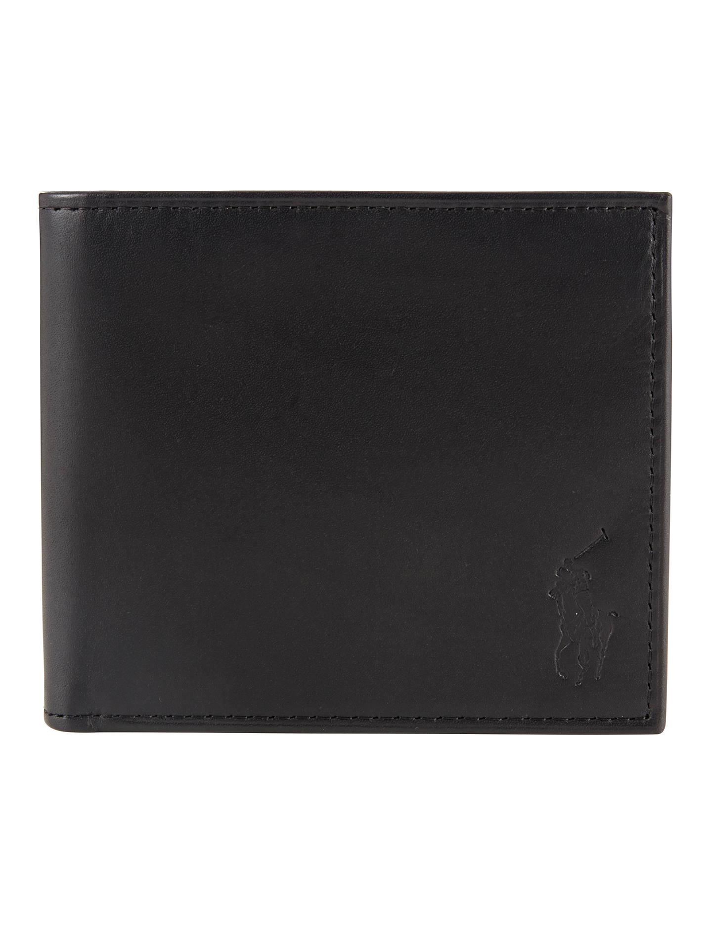 beebbcf8e989 Buy Polo Ralph Lauren Leather Billfold Wallet, Black Online at  johnlewis.com ...